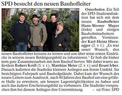 Besuch Bauhof